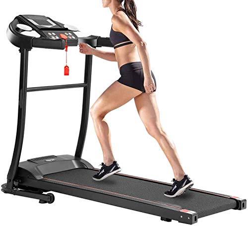 AiWoo Cinta de correr para hogar, Peso máximo de 150 kg, eléctrica, plegable, motorizada, con 12 programas predefinidos, pantalla LED, máquina de fitness