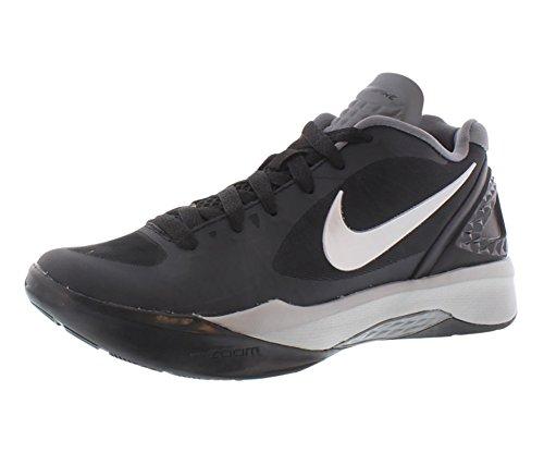 Nike Women's Volley Zoom Hyperspike Training Shoe (5 M US, Black/White/Grey/Metallic Silver)