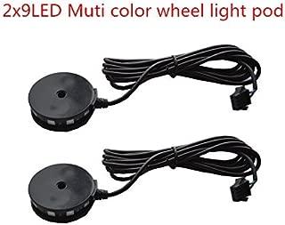 2pc LED Motorcycle Wheel Light Custom Glow Pod Accent Bike Light for motorcycle,ATV,Car,
