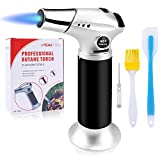 Blovec Butane Torch, Kitchen Blow Torch Cooking Torch Lighter Refillable with Safety Lock and...