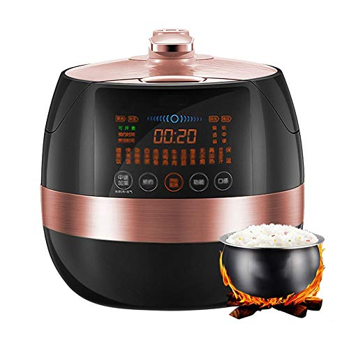 YFGQBCP Robot Cocina Completamente automático 5l Oficial de presión Inteligente Cocina, hogar for cocinar arroz, Cocina de arroz, Tecnología Touch Control preciso, Completo Operación del Panel