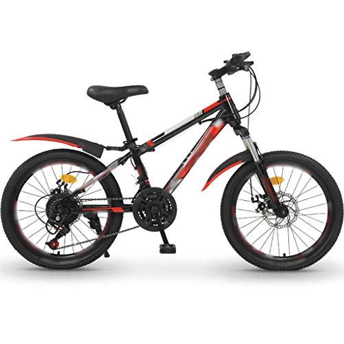 YHRJ Le Mountain Bike Sono Unisex,Bicicletta da Strada da 22 Pollici per Bambini E Adolescenti,Freni A Doppio Disco MTB,Telaio in Acciaio Ad Alto Tenore di Carbonio