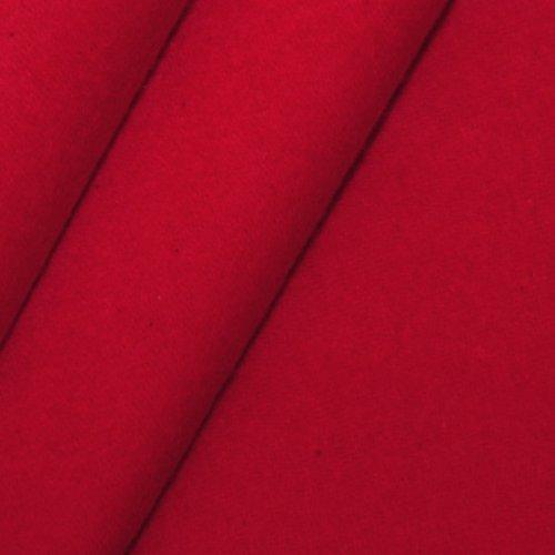 STOFFKONTOR B1 Bühnen - Molton Stoff Meterware Breite 300 cm Kirsch-Rot