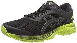ASICS Men's Gel-Kayano 25 Running Shoes, 8.5M, Black/NEON Lime