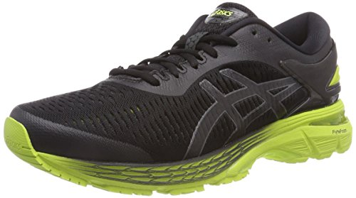 ASICS Men's Gel-Kayano 25 Running Shoes, 15M, Black/NEON Lime