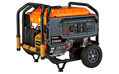 Generac G0064341 XT8000E Portable Generator, Orange, Black Generators