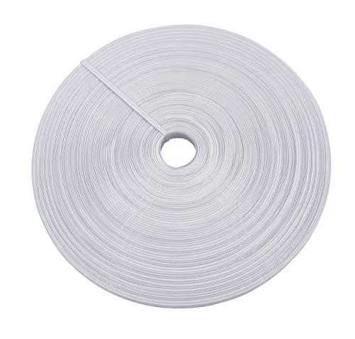 Polyester-Stäbchen, 12 mm breit, Weiß, 45,7 m/Rolle, zum Nähen von Hochzeitskleidern, Korsetts, Brautkleidern, Bankettkleidern, Performance-Kleidung, Stillkappen, etc.