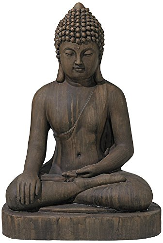 John Timberland Asian Zen Buddha Outdoor Statue 29 1/2' High Sitting for Yard Garden Patio Deck Home Entryway Hallway