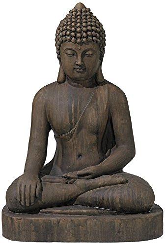 Asian Zen Buddha Outdoor Statue 29 1/2' High Sitting for Yard Garden Patio Deck Home Entryway Hallway - John Timberland