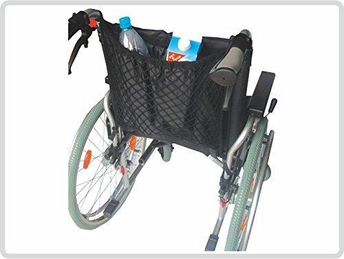 Rollstuhlnetz mit Innenfutter Einkaufsnetz für Rollstuhl , schwarz