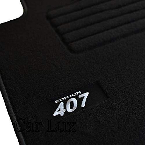 Car Lux AR02784 Tapis de sol sur mesure en velours pour 407 berline à partir de 2004