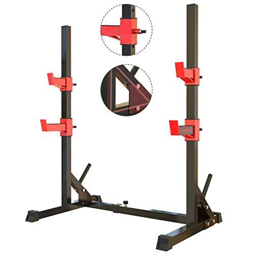 Barres de traction Support de squat Bench Press Support d'haltères de fitness pour hommes Étagère multifonctionnelle Support réglable Gymnase d'intérieur à domicile Support de musculation Ne vendez q