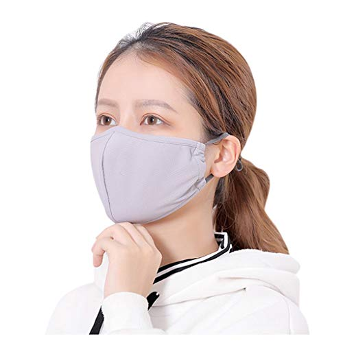 MORETIME Men And Women Adult Lavable Anti Polvo Anti-ultravioleta Meryl Solid, Anti Dust Face Mouth s, Face s para ciclismo Camping Travel