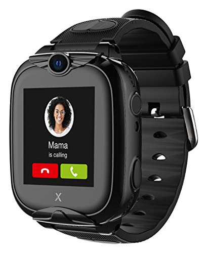 XPLORA XGO 2 - Telefon Uhr für Kinder (SIM-frei) - 4G, Anrufe, Nachrichten, Schulmodus, SOS-Funktion, GPS, Kamera, LED-Licht und Schrittzähler - 2 Jahre Garantie (SCHWARZ)