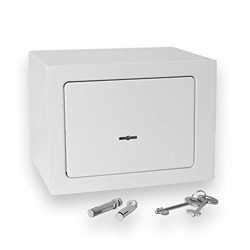 Bonzus® Minisafe Minitresor Safe Mini Safe Tresor Wandsafe Geldschrank Geldkassette BZ1 (Silbergrau)