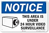 SmartSign 'Notice - This Area Is Under 24 Hour Video Surveillance' Sign | 12' x 18' 3M Engineer Grade Reflective Aluminum