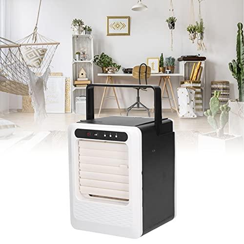 Mini aire acondicionado, viento fuerte ABS + PC Material plástico Silencioso y silencioso Mini refrigerador de aire para escritorio o sala de estar, tanto para la oficina como para el hogar