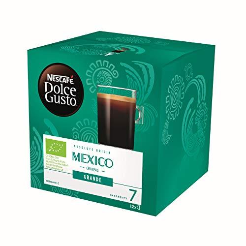 Nescafé Dolce Gusto Absolute Origin Mexico Chiapas Grande, Kaffee Kapsel, Kaffeekapsel, Röstkaffee, Bio, 12 Kapseln