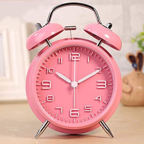 bxbx Wecker Sleep Timer 4-Zoll-Weinlese Laute Glocke Wecker Tinkerbell Wecker Mit Hintergrundbeleuchtung Für Schlafzimmer Tabellen-Ausgangsdekoration Fahralarm Mini Clock