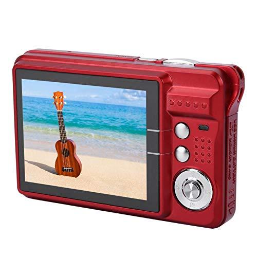 Guoshiy Cámara para niños, cámara Digital de Video para niños, USB 2.0 94 * 60 * 24 mm 2.7 Pulgadas para niños niñas niños pequeños(Red)