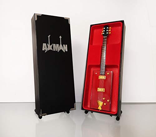 Bo Diddley - Réplica de guitarra en miniatura con caja de exhibición y soporte