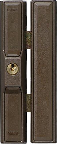 ABUS Fenster-Zusatzsicherung FTS88 AL0125 - Fensterschloss mit 2 verkrallenden Stahlriegeln, gleichschließend - Sicherheitslevel 9 - 31738 - braun