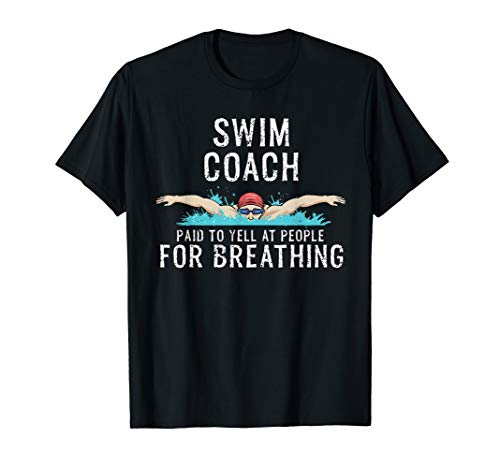 Swim Coach TShirt Cool Swimming Trainer Gift
