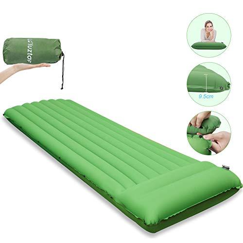Laluztop Isomatte Camping, Ultraleichte Schlafmatte kleines Packmaß, Aufblasbare Luftmatratze aus 40D Nylon and TPU, 2.8 R-Wert Ideal für Reise Camping Wandern und Backpacking