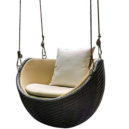 Camping Hängematte, Schaukelstuhl Balkon Lazy Bird's Nest Schaukel Schaukelstuhl Korbsessel Haushalt Single Cradle Chair (Farbe: Mehrfarbig, Größe: