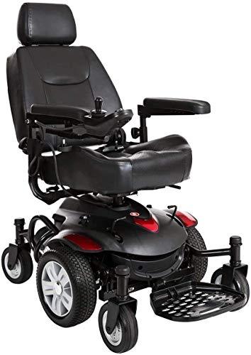 WXDP Silla de ruedas autopropulsada, silla de rehabilitación médica para personas mayores, personas mayores, Titan Axs Mid Wheel Powerchair - Potencia compacta - Silla eléctrica motorizada para Adul ⭐