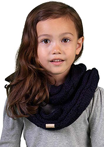 Kids Infinity Scarf - Solid Navy