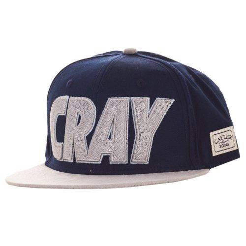 Cayler & Sons Cray Snapback Deep Navy Grey Glow