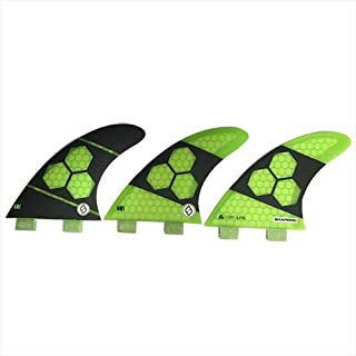 SHAPERS FINS FCS 3フィン AM1 CORE-LITE FCS対応 3枚セットGREEN FINS SHFC-AM1-CORELITE-GRN-3PC [並行輸入品]