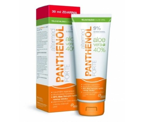 Panthenol Forte 9% leche corporal 230 ml + aloe, ALTERMED