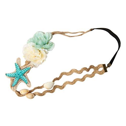 Lurrose Beach Star Haarbänder Meerjungfrau Sea Star Kopfschmuck Party Favor Haarschmuck für Frauen Mädchen
