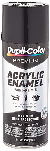 Dupli-Color Epae10000 Premium Acrylic Enamel Spray Paint (Pae100 Gloss Black 12 Oz), 12. Fluid_Ounces