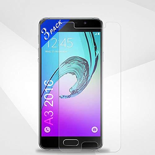 Le Destin Galaxy A3 2016 Panzerglas Schutzfolie, [3 Stück] 9H Härte/Klar Glat/Blasenfrei,Displayschutzfolie Schutzfolie für Samsung Galaxy A3 2016