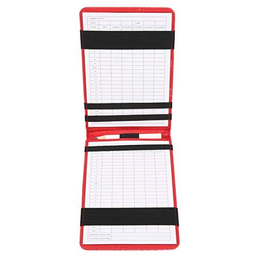Circa 36 x 11 cm / 14,1 x 4,3 pollici Porta segnapunti da golf Il libretto dei punteggi include una matita di legno, per il golfista