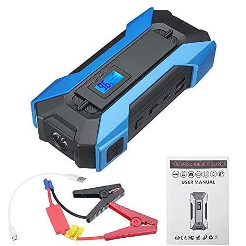 Arrancador de Batería de Coche Batería De Cargador De Emergencia De Emergencia De Emergencia De Emergencia De Salida De Emergencia De 10000mAh Fácil de Conectar (Color : Azul, Size : 10000mah)
