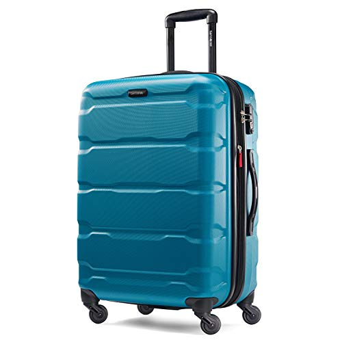 Samsonite Omni PC Hardside Luggage, Caribbean Blue, Checked-Medium