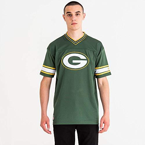 New Era NFL Team Logo Oversized Tee Grepac Maglietta Linea Green bay Packers Uomo, Uomo, 11859992, Verde Scuro, S
