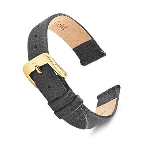 Speidel Genuine Leather Watch Band 13mm Black Fine...