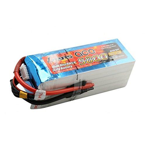 Gène Ace 5800 mAh 22,2 V 45 C 6s1p Lipo Pack Batterie pour modélisme RC Car Heli Bâche Boat Truck FPV Voiture hélicoptère Avion Toys