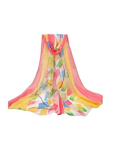 Las Mujeres De Moda Nuevo Foulard Chal De Simple Estilo Viscosa Islámico Musulmán Hijab Hijab Maxi Maxi Recorte Llanura Bufanda Bufandas (Color : Multicolore 3, Size : One Size)