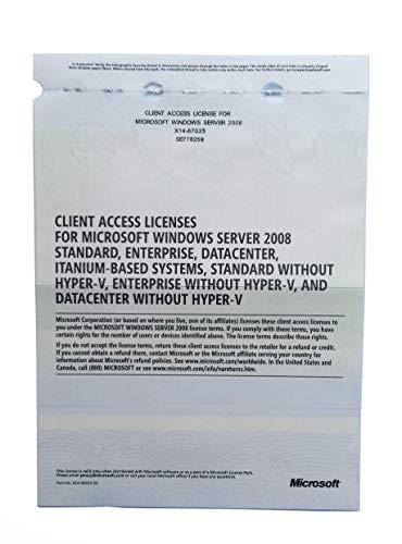 Microsoft Windows Server 2008 RDS TS Remote Desktop Services: 25 User/Device CALS Licences - Terminal Services - OEM