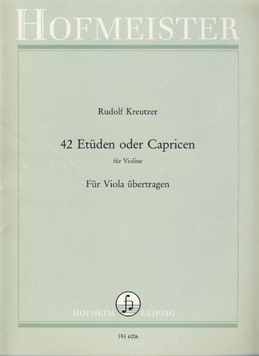 42 Etüden oder Capricen für Violine : für Viola übertragen