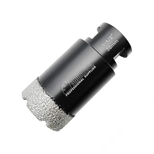 SHDIATOOL Diamond Core Drill Bits 1-1/2 Inch for Porcelain Ceramic Tile Marble Brick Vacuum Brazed Hole saw 38mm