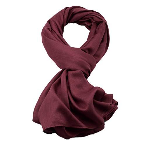 JX-Weijin Mens fijne zachte visgraat getextureerde sjaal eenvoudige en veelzijdige jongen kraag sjaal, lente en herfst dunne sectie