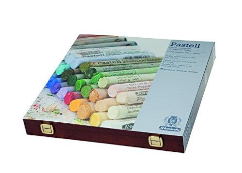 Juego de paisaje pastel extra de Schmincke en caja de madera de 45 colores