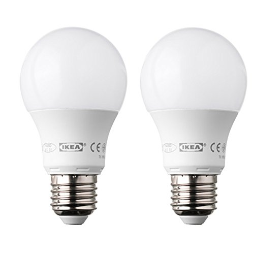 Ikea Ledare - Bombilla LED E27 de forma redonda y 400 lúmenes (2 unid